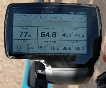 Leomo to assess strength and movement on the bike